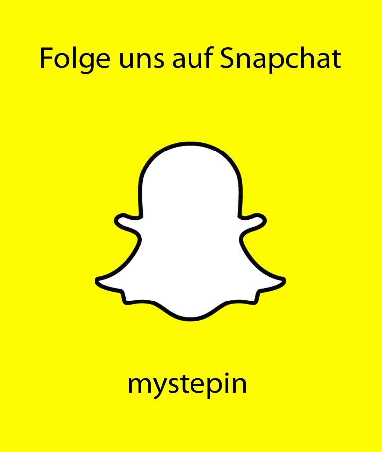 Folge uns auf Snapchat